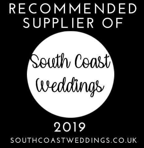 Recommended Supplier of South Coast Weddings Magazine 2019